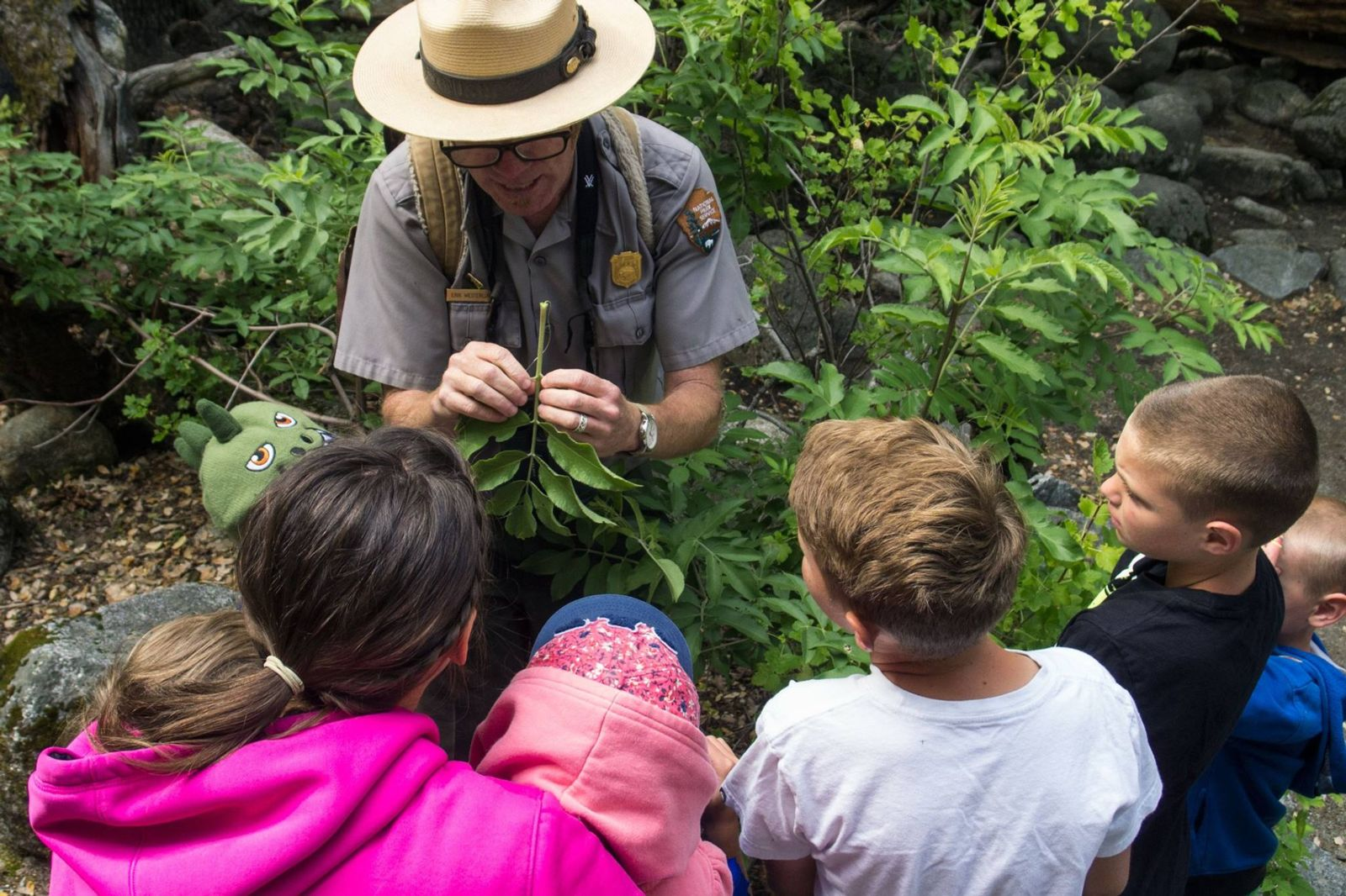 National Park Ranger Erik Westerlund teaching