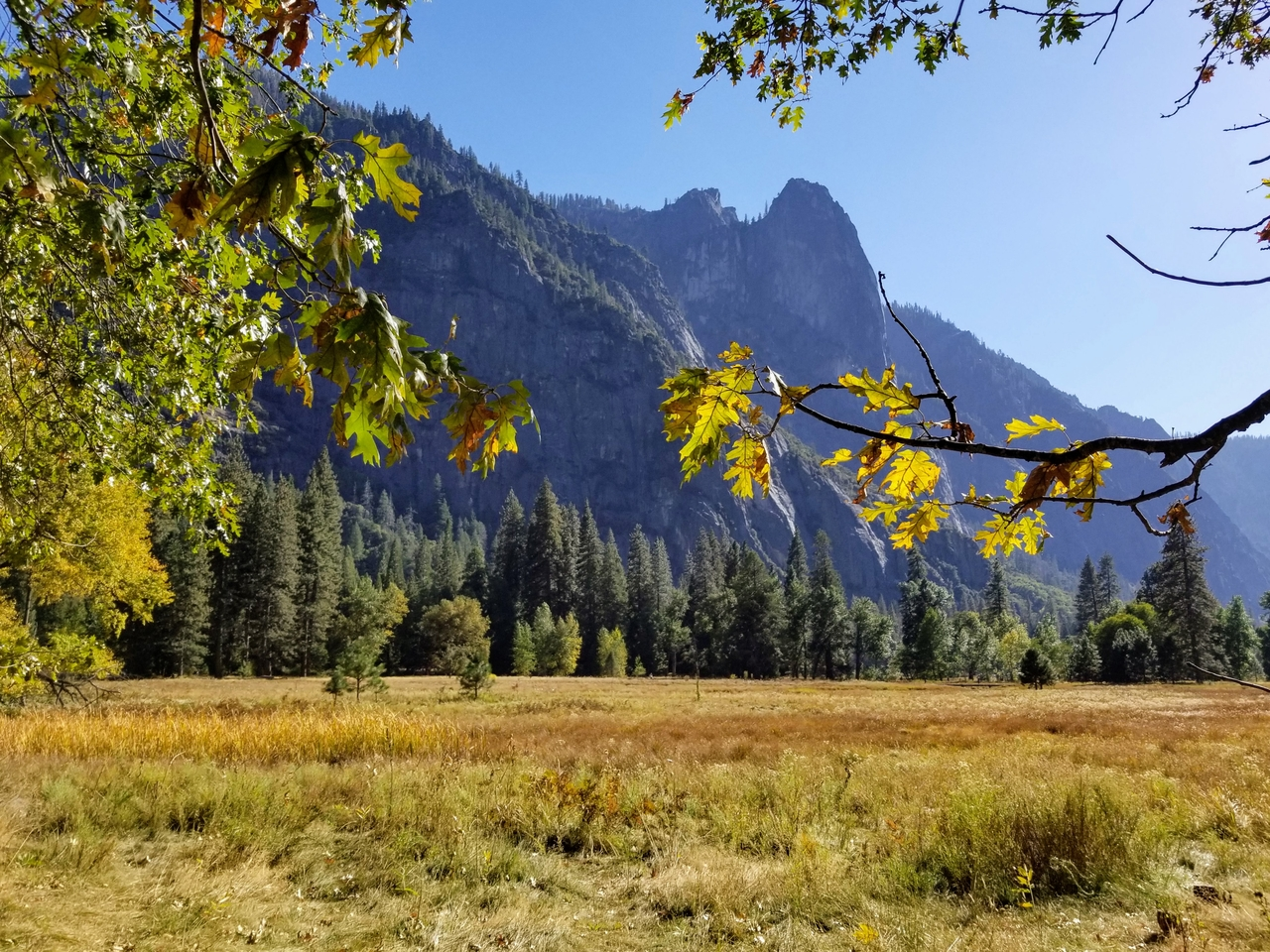 Sentinel Rock in Autumn photo by Yosemite Conservancy/Gretchen Roecker