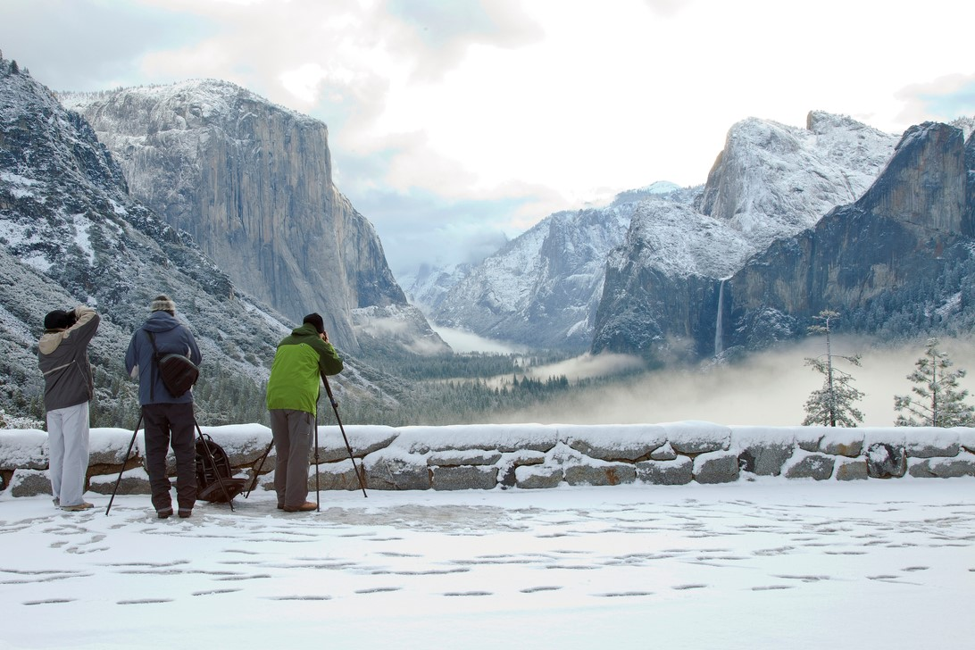Tunnel View Winter Photographers by Yosemite Conservancy/Nancy Robbins