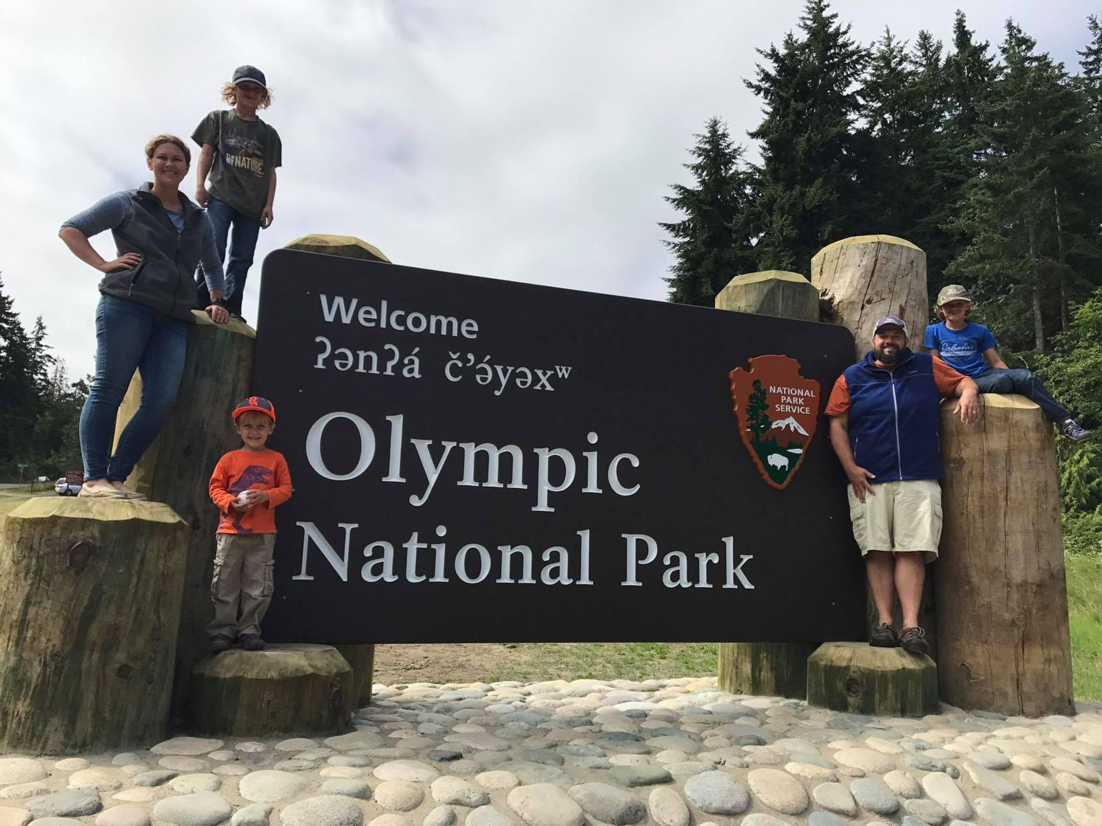 The Puglisi family at Olympic National Park.