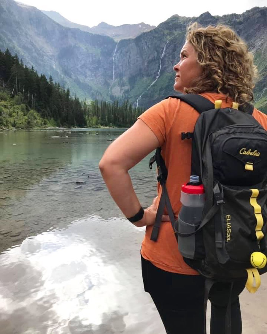 Stephanie Puglisi at Avalanche Lake Glacier