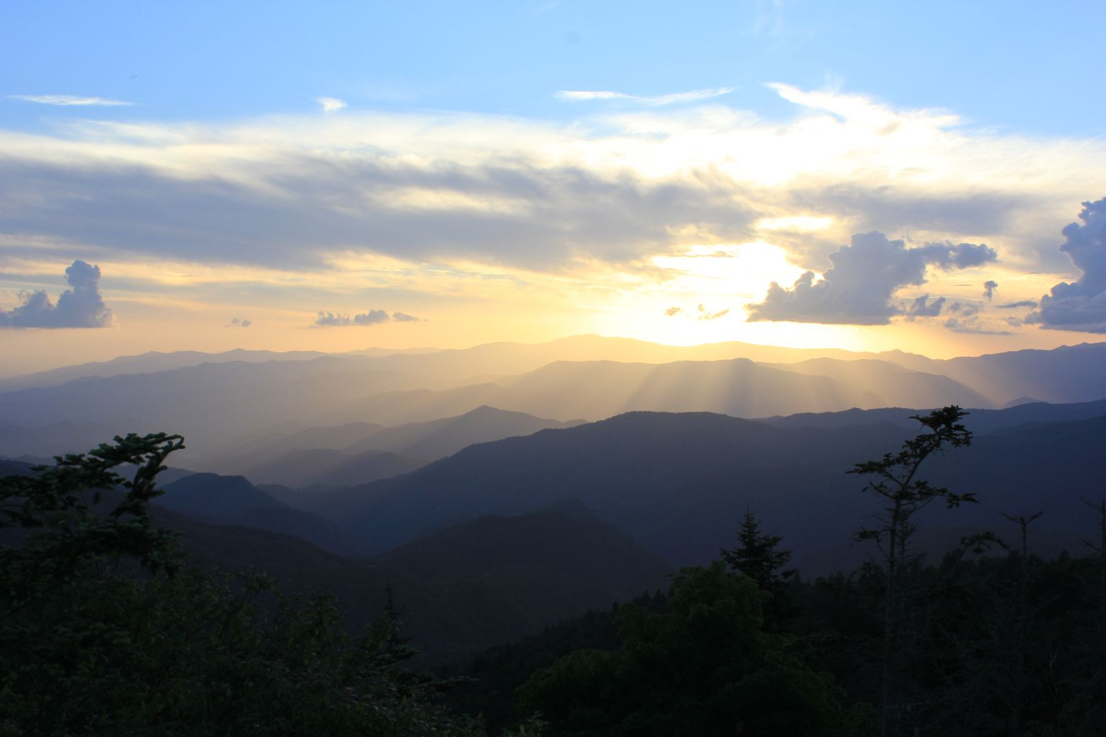 Sunset in Great Smoky Mountains National Park - photo by Jason Frye