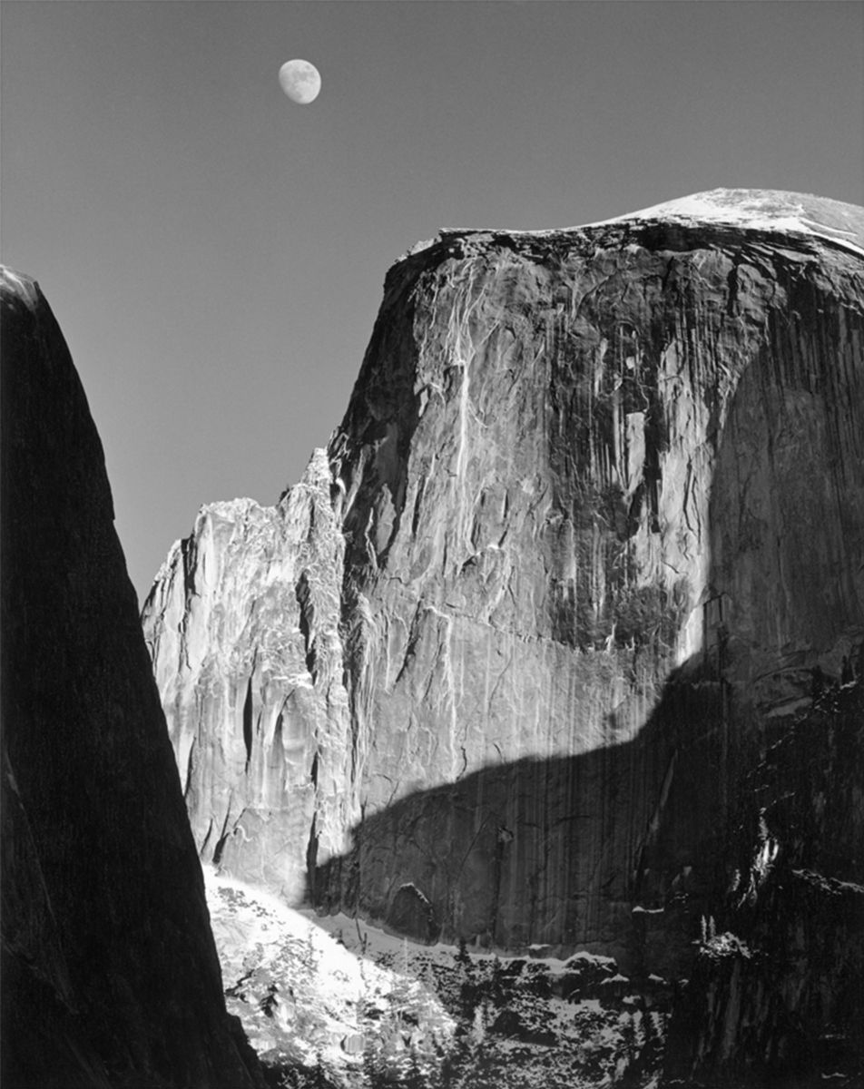 Moon and Half Dome, 1960 Photograph by Ansel Adams
