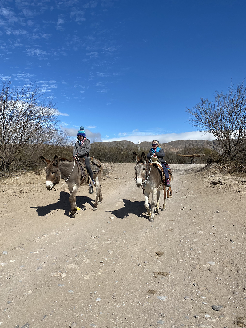 Riding Burros from Boquillas, Mexico back to the Rio Grande