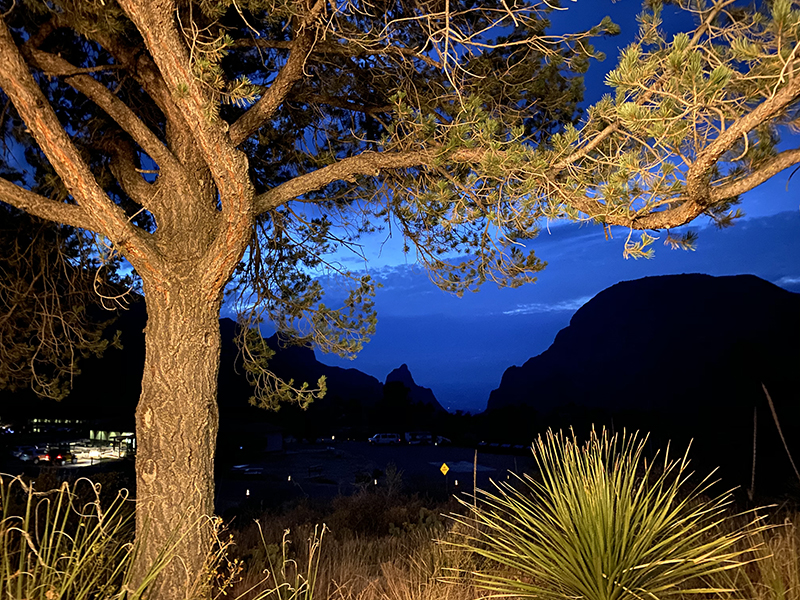 Window View from the Chisos Mountains Lodge patio. We did not see this new again did 48 hours due to fog