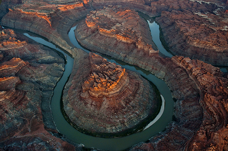 The Loop, a double oxbow in Canyonlands, photo by Pete McBride